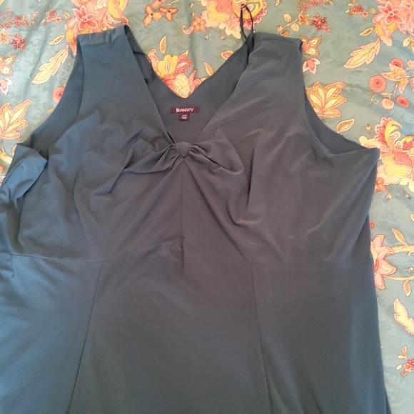 Dark teal knee length maxi dress